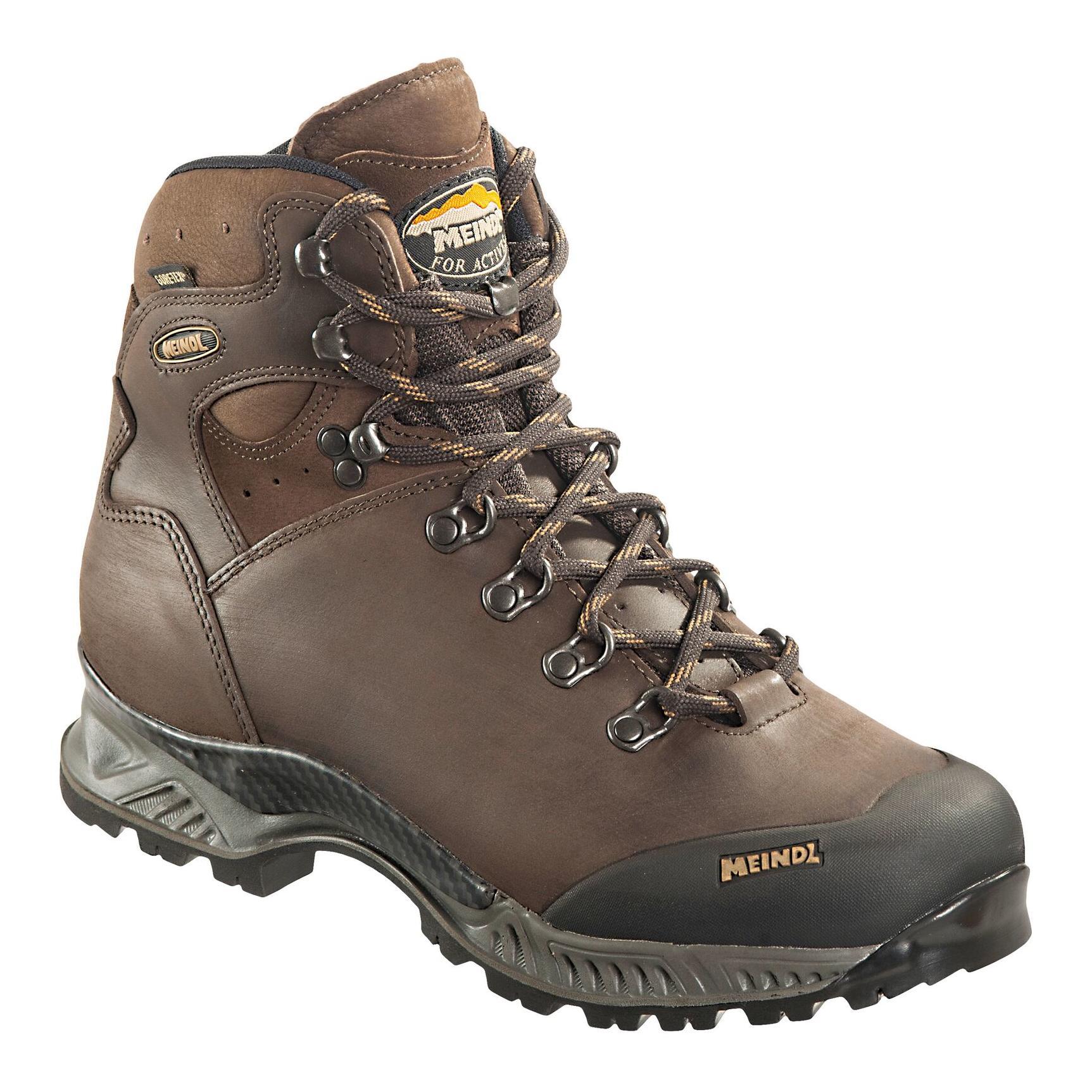 Meindl softline top gore-tex marron et noir : chaussures de randonnée  modèle homme