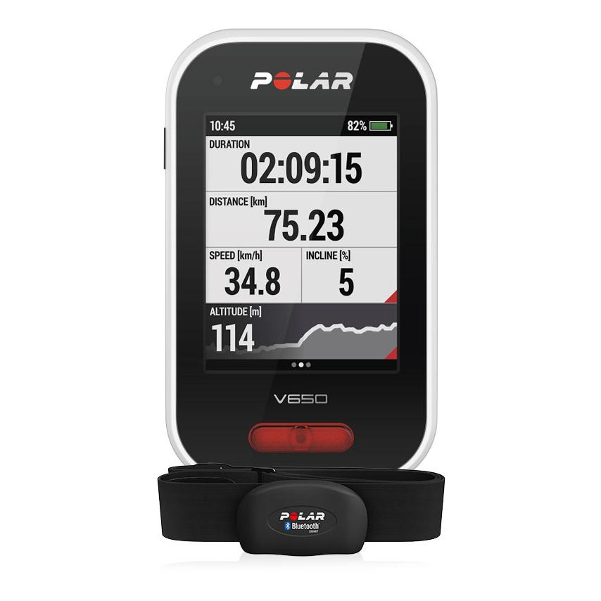 compteur velo gps cardio v650 noir hr polar sold 269 00. Black Bedroom Furniture Sets. Home Design Ideas