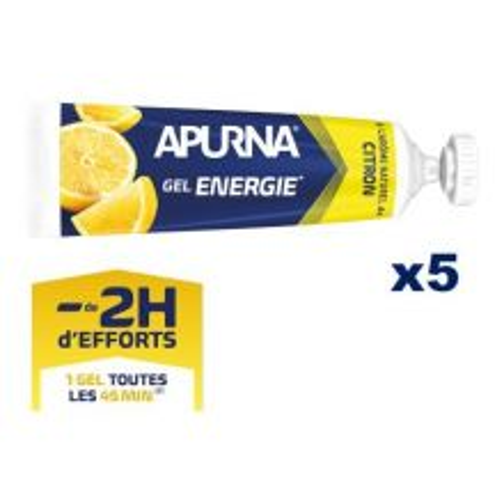 Gel Energie Citron -2h d'efforts - Etui 5 x 35g [0]