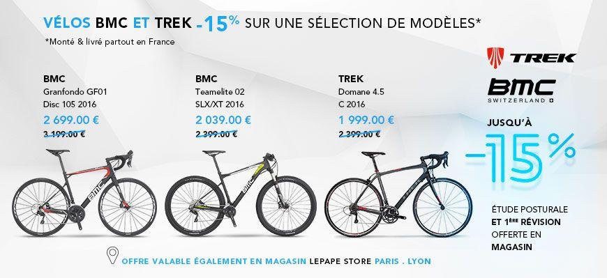 -15% sur certains modèles BMC et TREK
