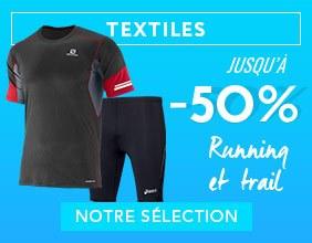 textile Running & trail jusqu'à -50%