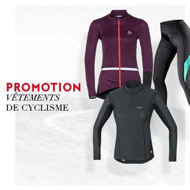 promo vêtements cycle