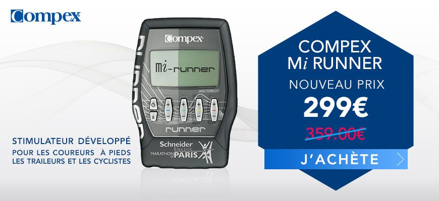 Compex Runner + Mi Sensor 359€