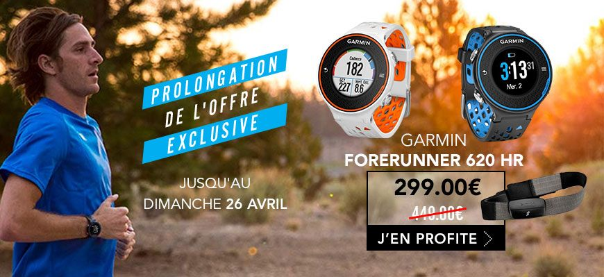 Garmin Forerunner 620 offre exclusive